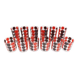 Mid Century Hj Stotter Barware - Set of 12 Acrylic Tumblers For Sale