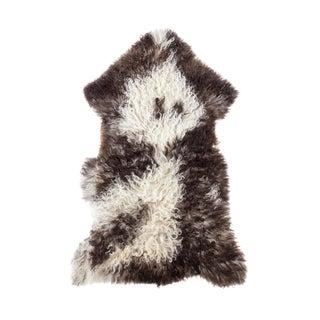 "Contemporary Hand-Tanned Sheepskin Pelt - 2'0""x3'3"""