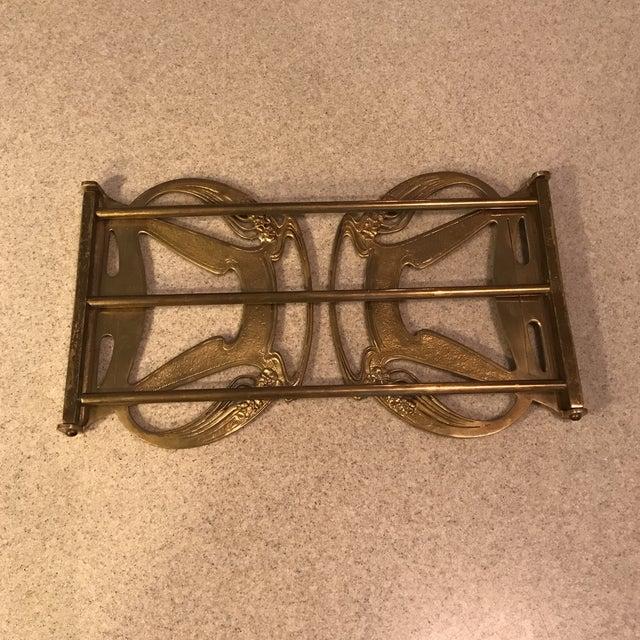 1920s Art Nouveau Brass Expandable Book Rack - Image 10 of 10