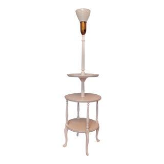 Vintage Mahogany Chippendale Style Dumbwaiter Floor Lamp