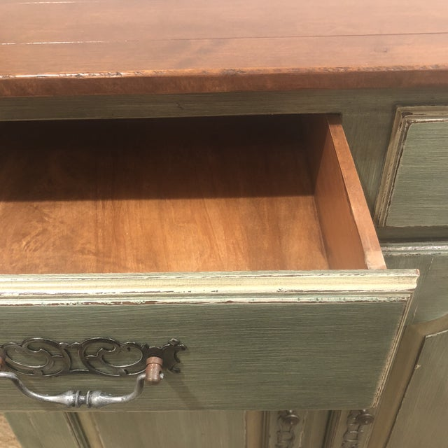 Green French Country Cupboard For Sale - Image 4 of 11