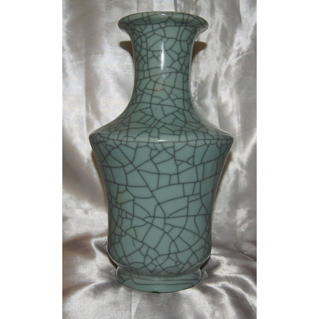 1970s Chinese Crackle Celadon Vases - Set of 3 For Sale - Image 5 of 7