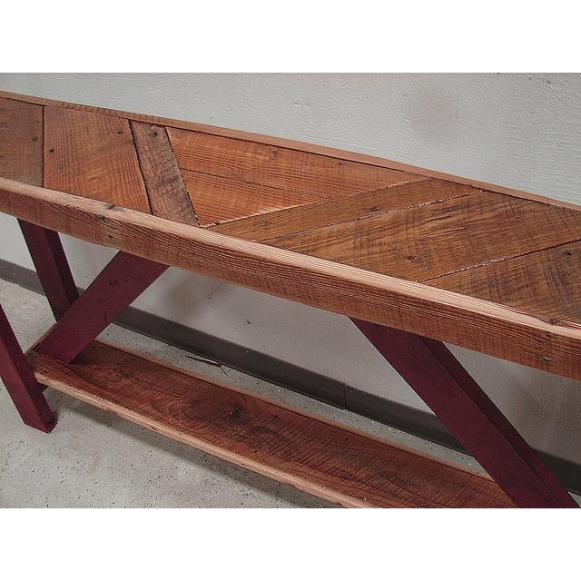 Reclaimed Barnwood Sofa or Console Table - Image 3 of 3