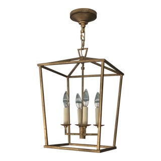 Darlana Lantern in Gilded Iron by Visual Comfort For Sale