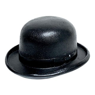 1970s Magritte Style Bowler Hat Sculpture For Sale