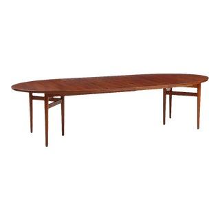 Arne Vodder Teak Oval Dining Table Model 212 For Sale