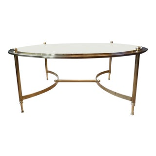 Round, Brass and Glass Coffee Table