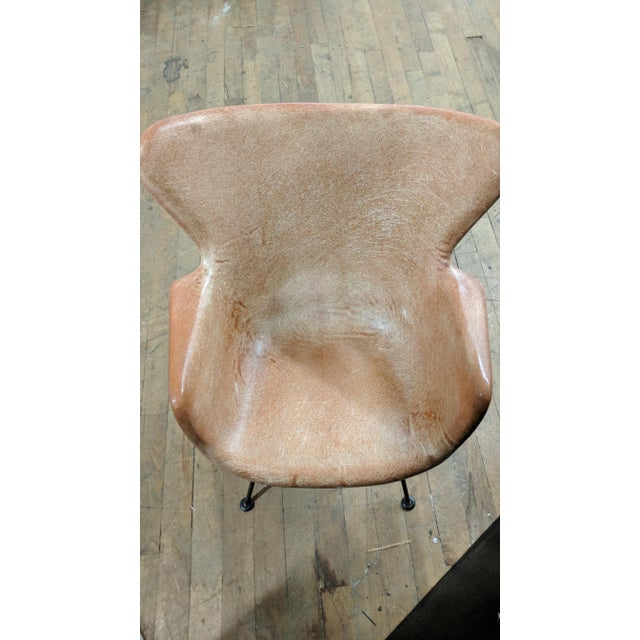 Lawrence Peabody for Selig Mid-Century Wingback Fiberglass Chair - Image 7 of 12