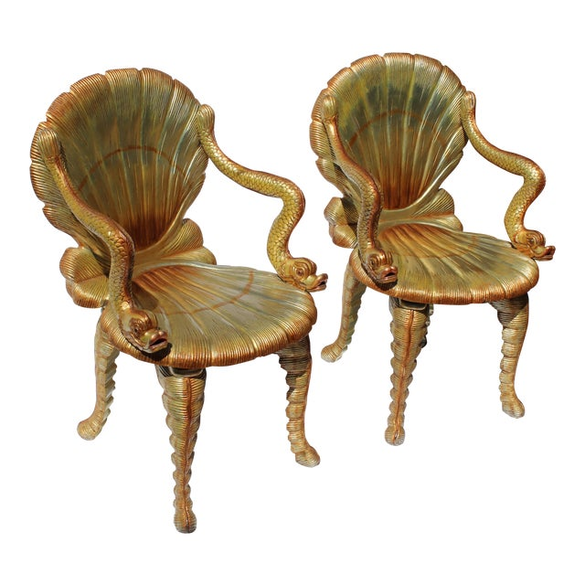 Pair of Venetian Grotto Chairs 20c. For Sale