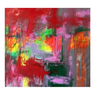 """Contemporary Abstract Oil Painting """"Obscura"""" by Mirtha Moreno For Sale"""