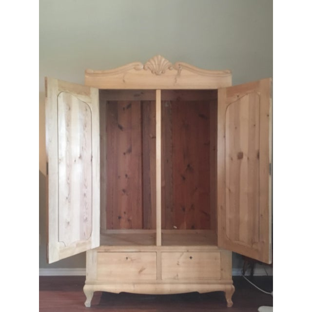 19th Century Antique Scandinavian Pine Wardrobe - Image 3 of 6