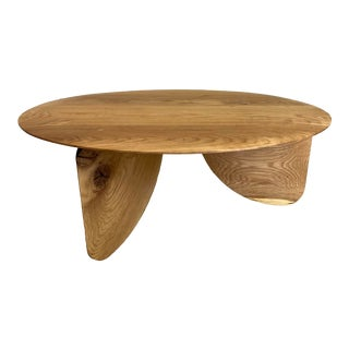 "Evan Bush ""Fin"" White Oak Coffee Table For Sale"