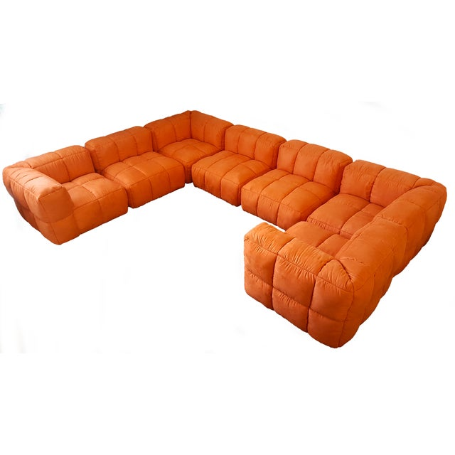 1970s Monumental Tufted Modular Sofa - Image 1 of 8