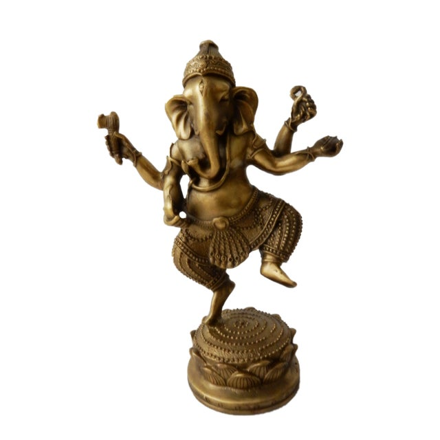 Bronze Lord Ganesh Sculpture For Sale - Image 5 of 7