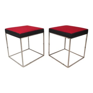 Mid-Century Modern Style Stools - a Pair