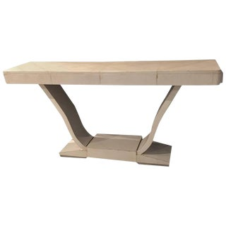French Art Deco Parchment Console Table For Sale