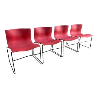 Massimo Vignelli Handkercheif Chairs for Knoll, Set of 4 For Sale