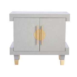 Mottled Gray Simon Nightstand For Sale