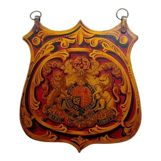 19th Century Vintage English Royal Coat of Arm For Sale