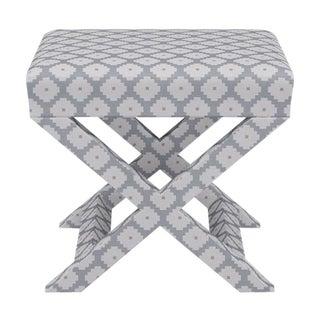 X Bench in Grey Ziggurat For Sale