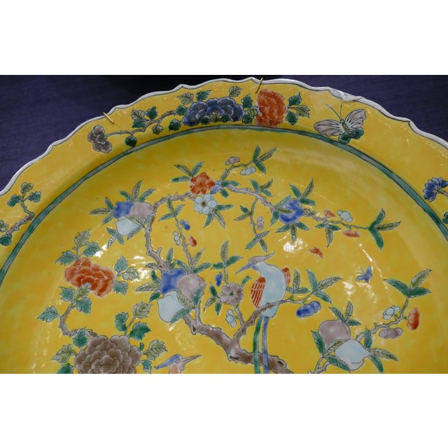 Chinoiserie 1980s Chinoiserie Pattern Charger For Sale - Image 3 of 6