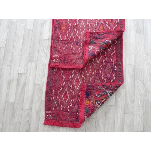 Textile Pair Vintage Turkish Kilim Rug 1′8″ × 3′3″ For Sale - Image 7 of 8