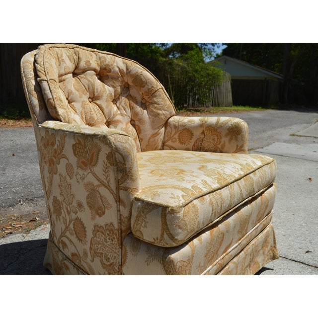 Woodmark Originals Tree of Life Barrel Back Chair - Image 5 of 9