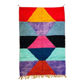 1980s Moroccan Berber Rug-6′9″ × 9′10″ For Sale