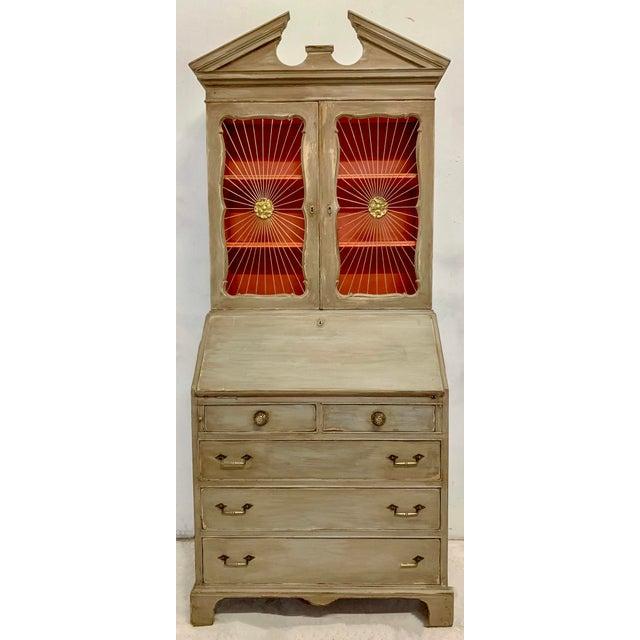 John Widdicomb Sunburst Front Secretary Desk For Sale - Image 10 of 11