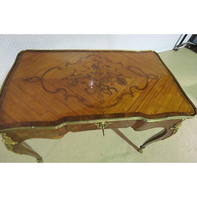 19thC Inlaid Bureau Plat For Sale - Image 4 of 6