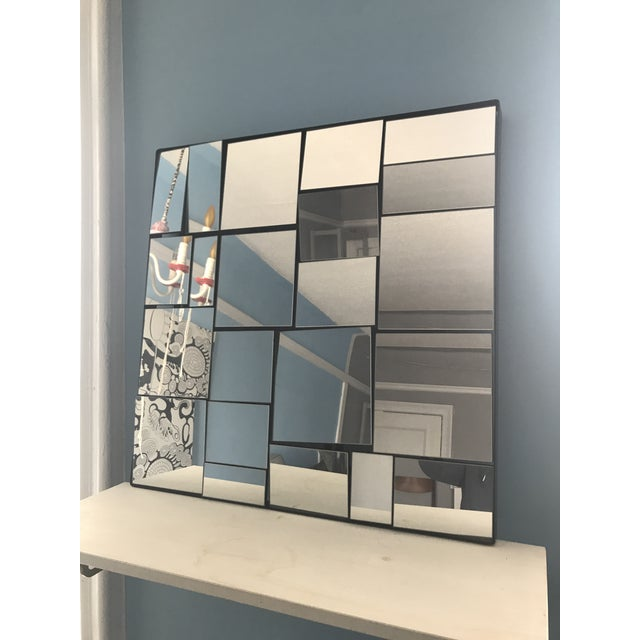 Cb2 Neal Small Slopes Style Mirror For Sale - Image 9 of 10