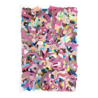 Jessalin Beutler Original Pink Abstract Painting For Sale