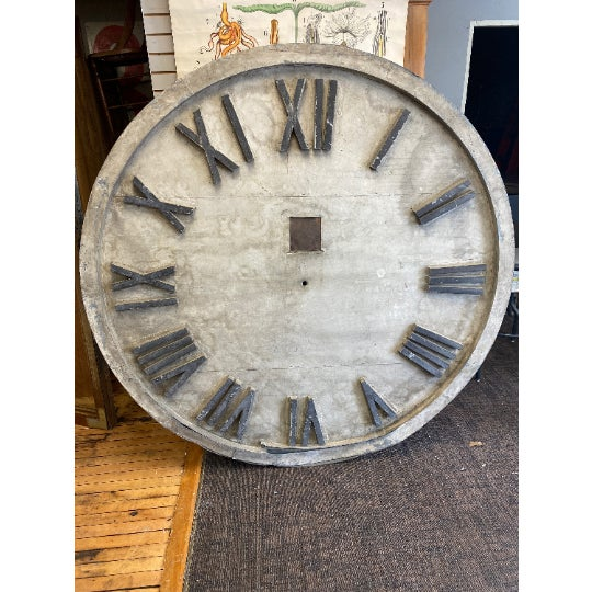 Late 19th Century Clock Face of Oversize 6-Foot Diameter From Exterior of Early 20th Century Midwestern Courthouse; Ships Free.* For Sale - Image 5 of 5