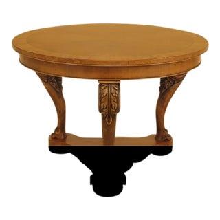 Italian Round Walnut Georgian Center Table For Sale