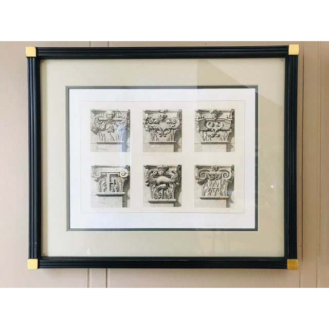 Early 21st Century Antique Fontainebleau Architectural Framed Prints - Set of 9 For Sale - Image 5 of 13