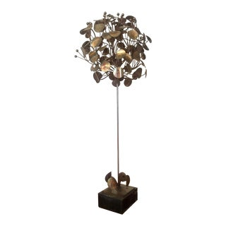 Mid Century Brass Money Tree Sculpture Curtis Jere For Sale