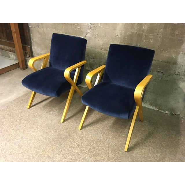 1940s Vintage Thonet Bentwood Armchairs - a Pair For Sale - Image 11 of 13