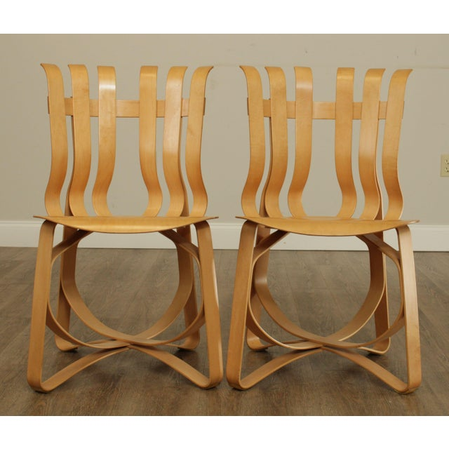 "Frank Gehry Frank Gehry for Knoll Bent Wood Pair ""Har Trick"" Chairs For Sale - Image 4 of 13"