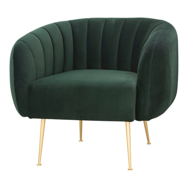 Dark Green Robert Accent Chair For Sale