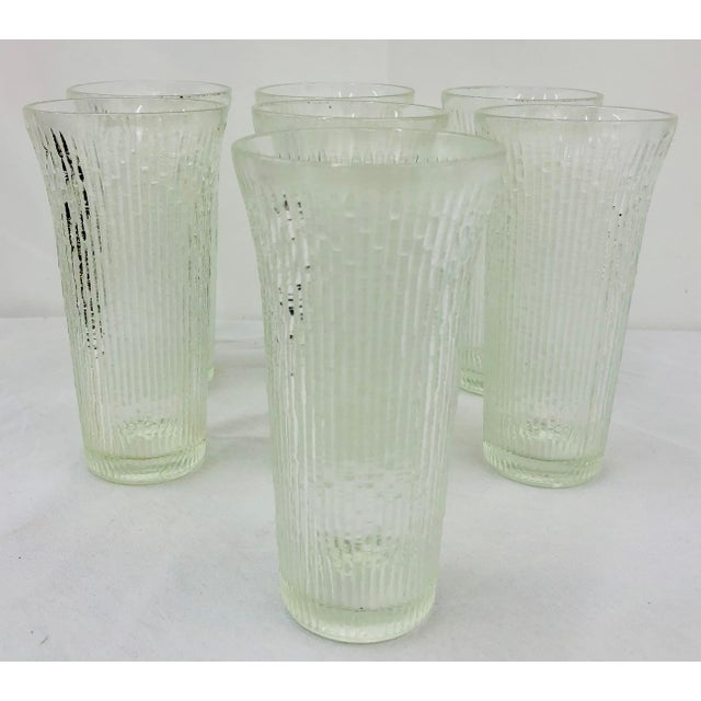 Vintage Faux Bamboo Style Cocktail Tumbler Highball Glasses - Set of 7 For Sale - Image 11 of 11