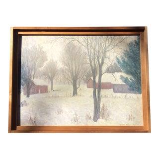 Vintage American Impressionist Landscape Oil Painting For Sale