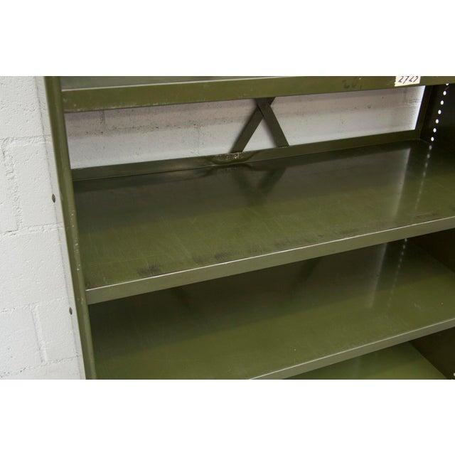 Industrial Military Sheet Metal Bookshelf - Image 10 of 10