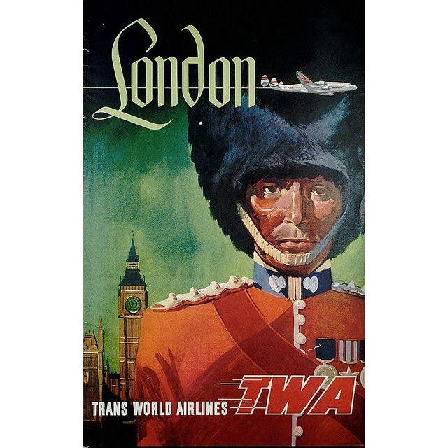 Matted and Framed Vintage London Travel Poster - Image 3 of 3