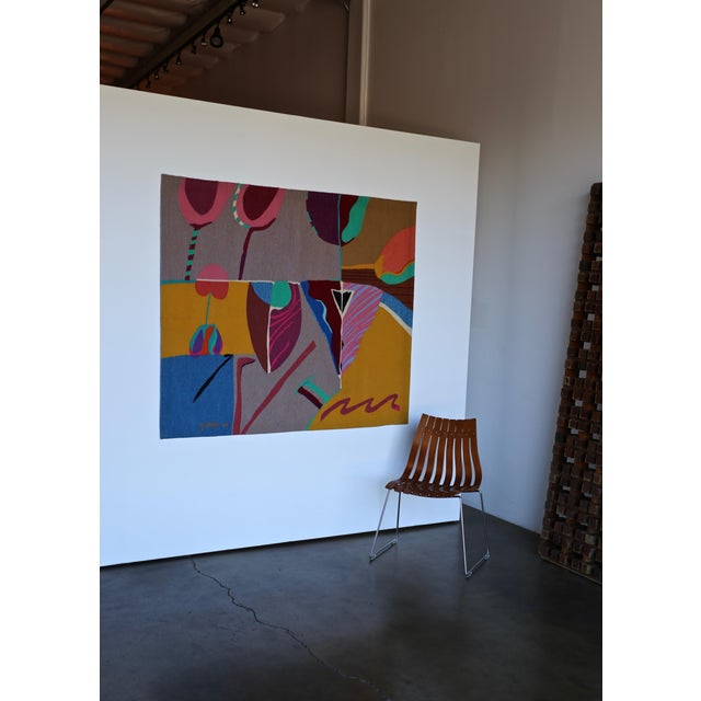 Late 20th Century Contemporary Abstract Tapestry by Steve Zoller For Sale - Image 5 of 10