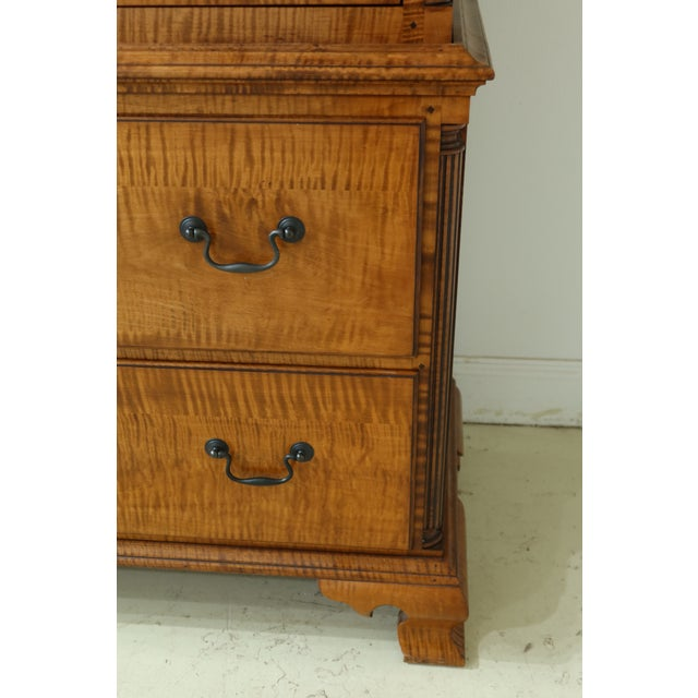 Benchmade Tiger Maple Linen Press Armoire Cabinet For Sale - Image 4 of 13