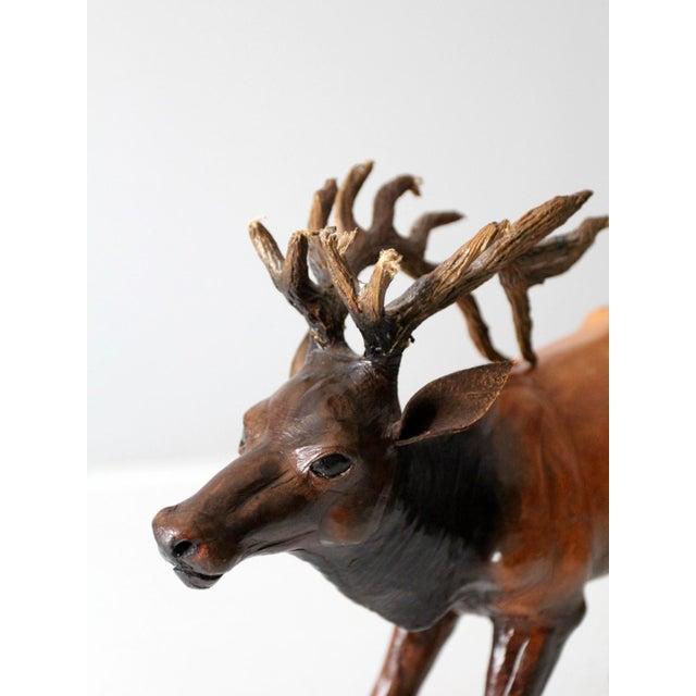 Vintage Leather Reindeer Sculpture For Sale - Image 9 of 10