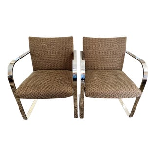 Classic Mies Van Der Rohe Brno Chairs - a Pair For Sale