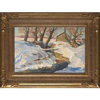 """Sauna"", Original Oil Painting by g.p. Sorogin Circa 1954 For Sale"