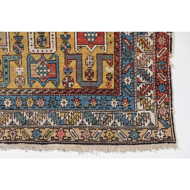 Shirvan 19th Century Caucasian Rug - 3′10″ × 4′10″ For Sale - Image 4 of 9