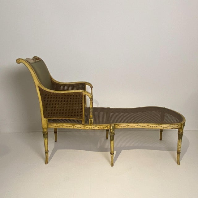 Painted Fainting Chair, England Circa 1810 For Sale - Image 10 of 11
